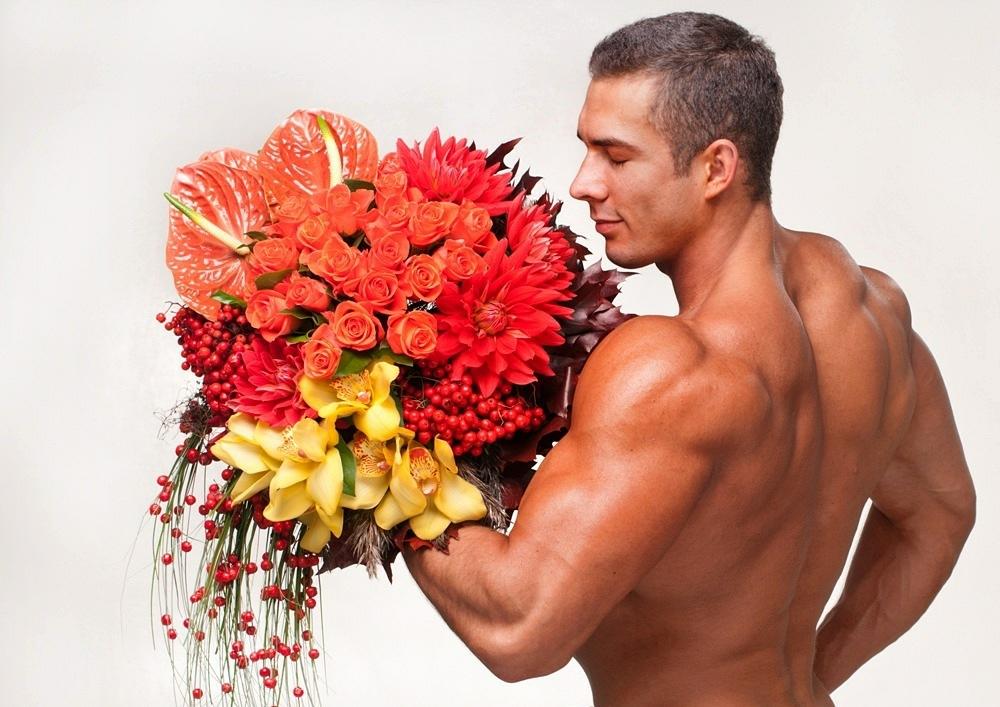 Моему любимому, картинки прикольные девушка и цветы