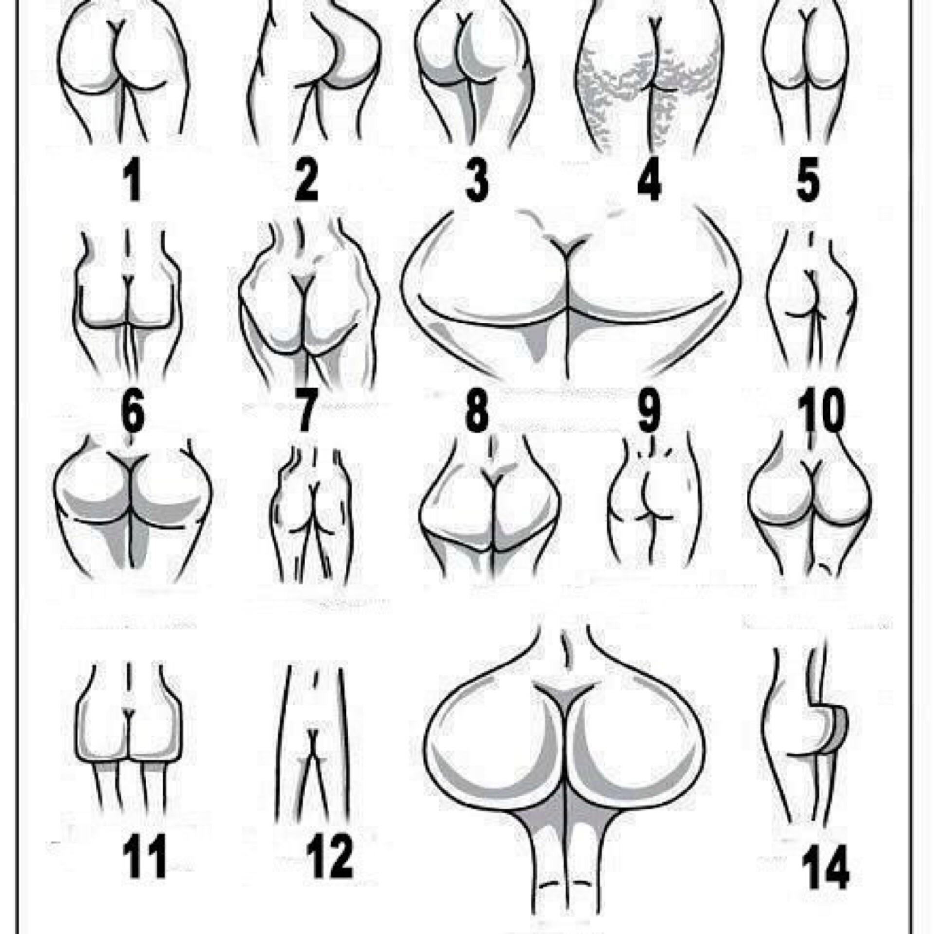 Красивые разновидности форм попок порно пожилых
