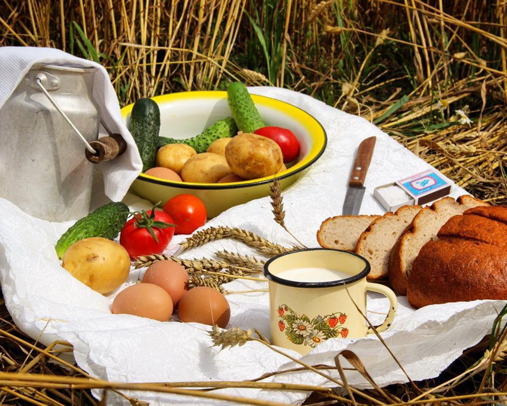 Деревенский завтрак картинки